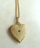 14ct Rolled Gold Locket And Chain.